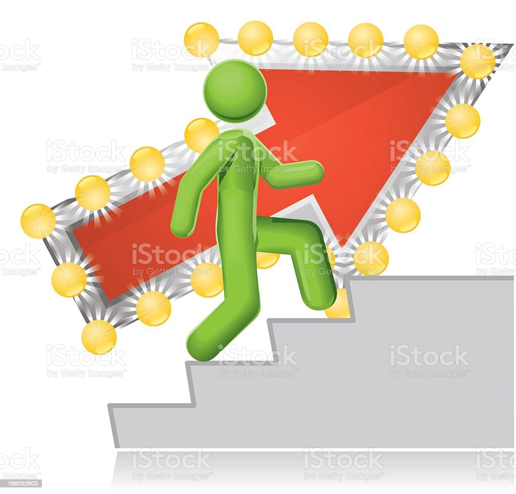 Stairway to Fame and Fortune royalty-free stock vector art