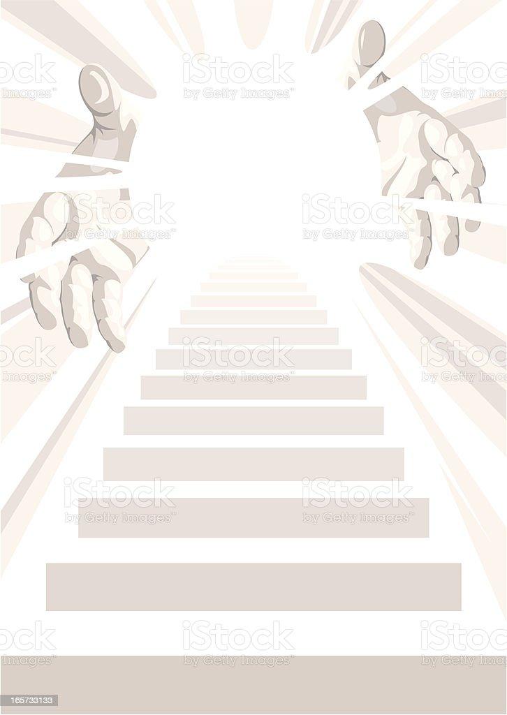 Stairway to Heaven vector art illustration