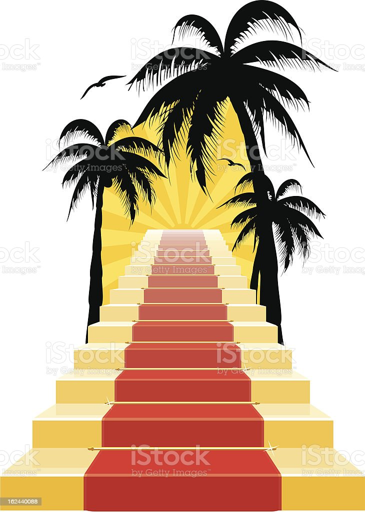 Stairway To Paradise royalty-free stock vector art