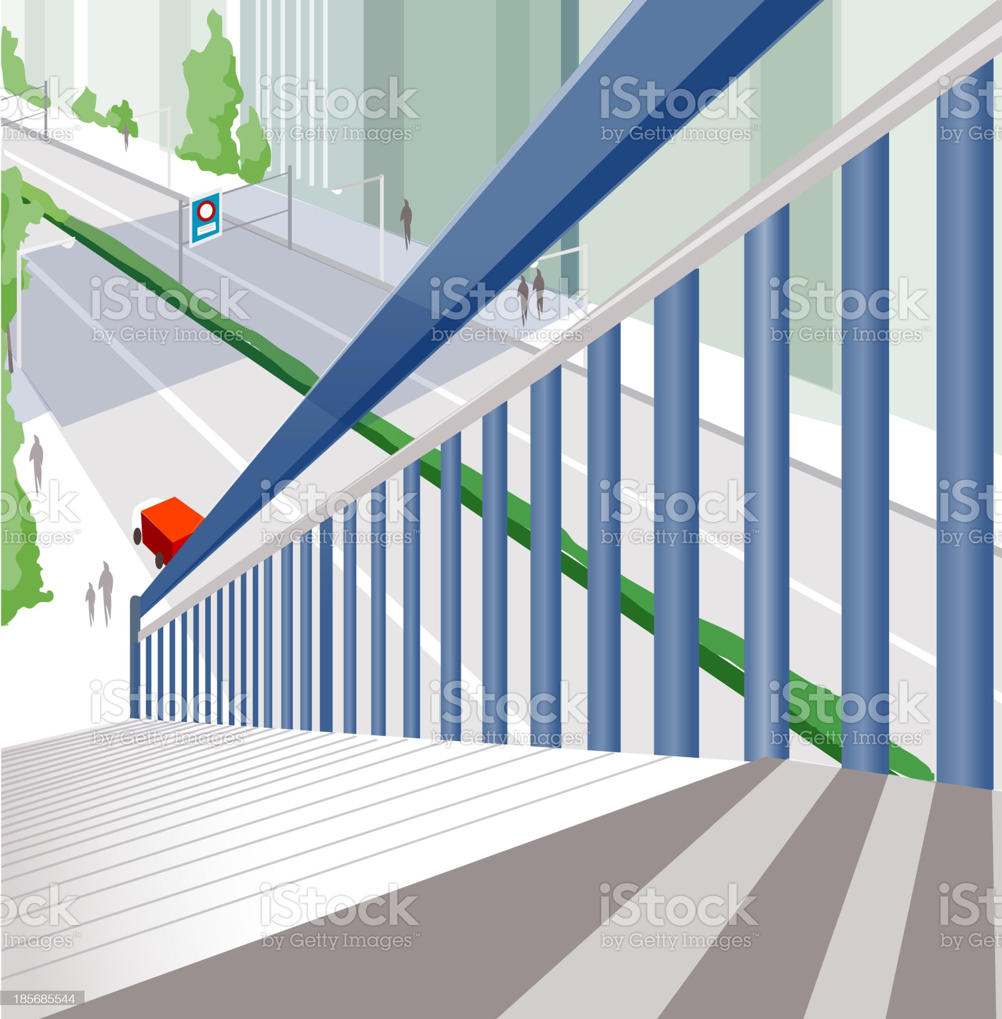Stairway royalty-free stock vector art