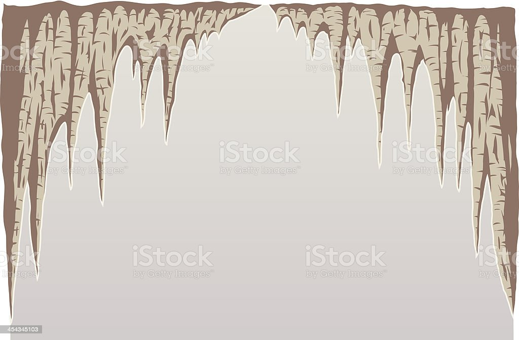 Stalagmite vector art illustration