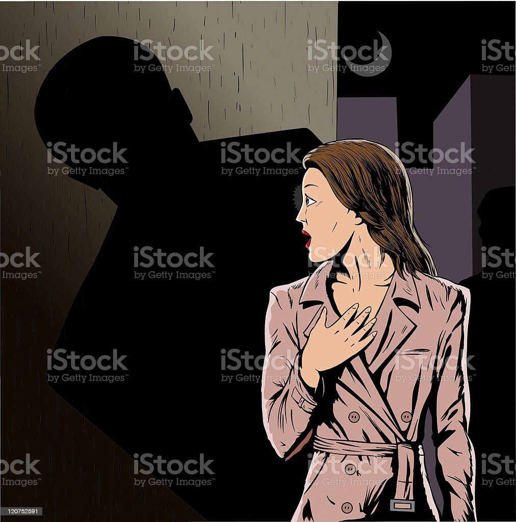 Stalker vector art illustration