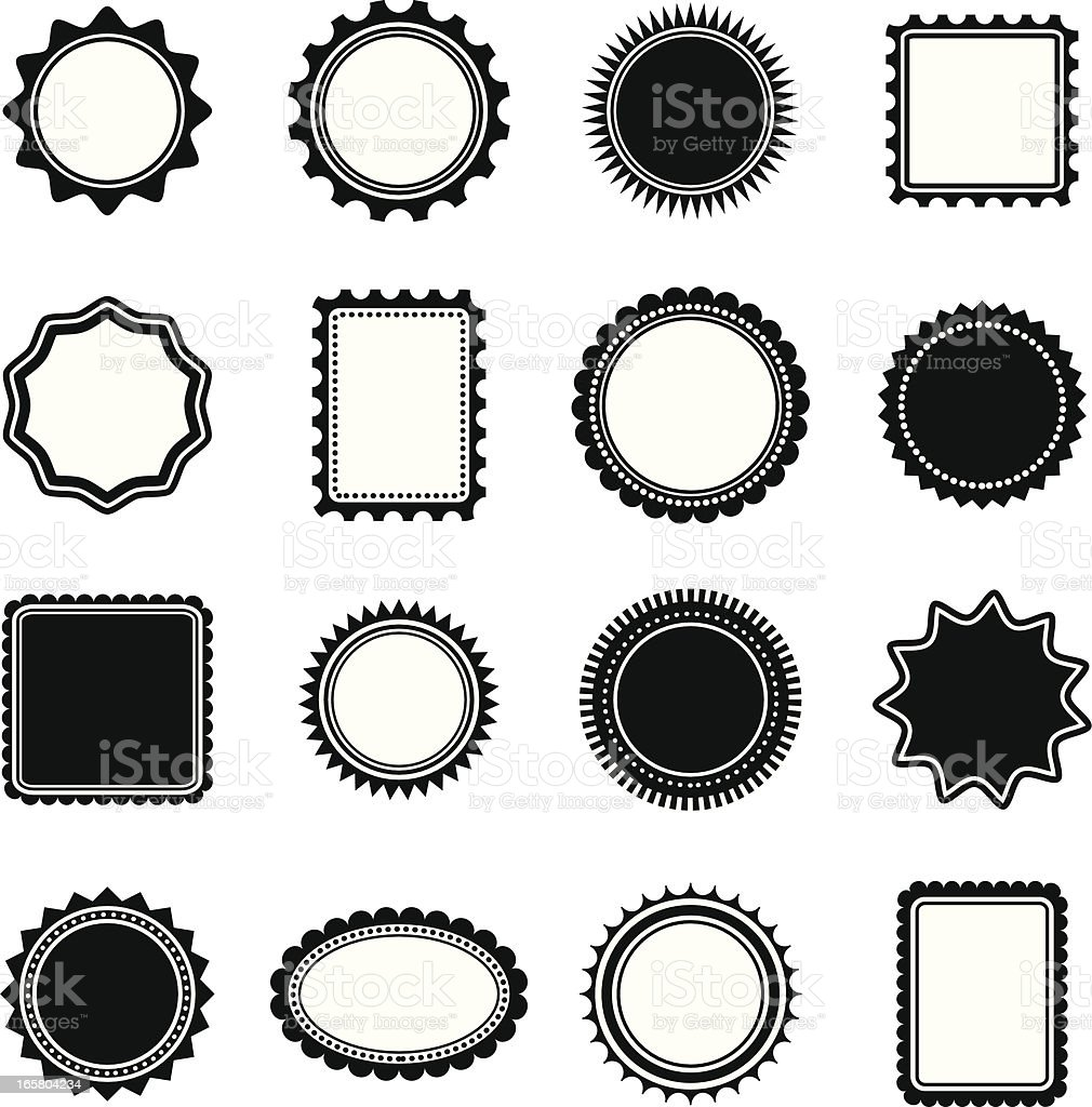 Stamp and Frame shapes vector art illustration