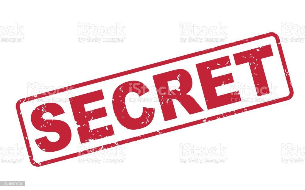 stamp secret with red text on white vector art illustration