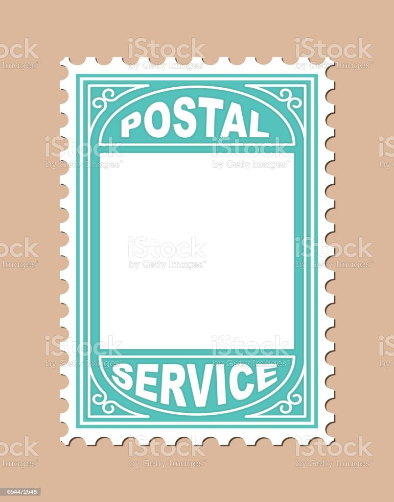 Stamp Shape Blank Placard vector art illustration