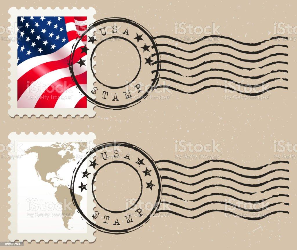 stamp vector art illustration