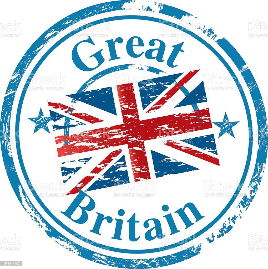 UK stamp vector art illustration