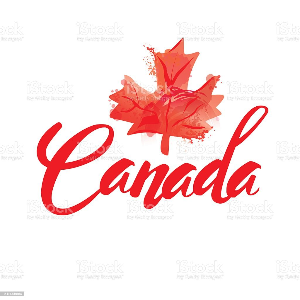 stamp with name of Canada vector art illustration