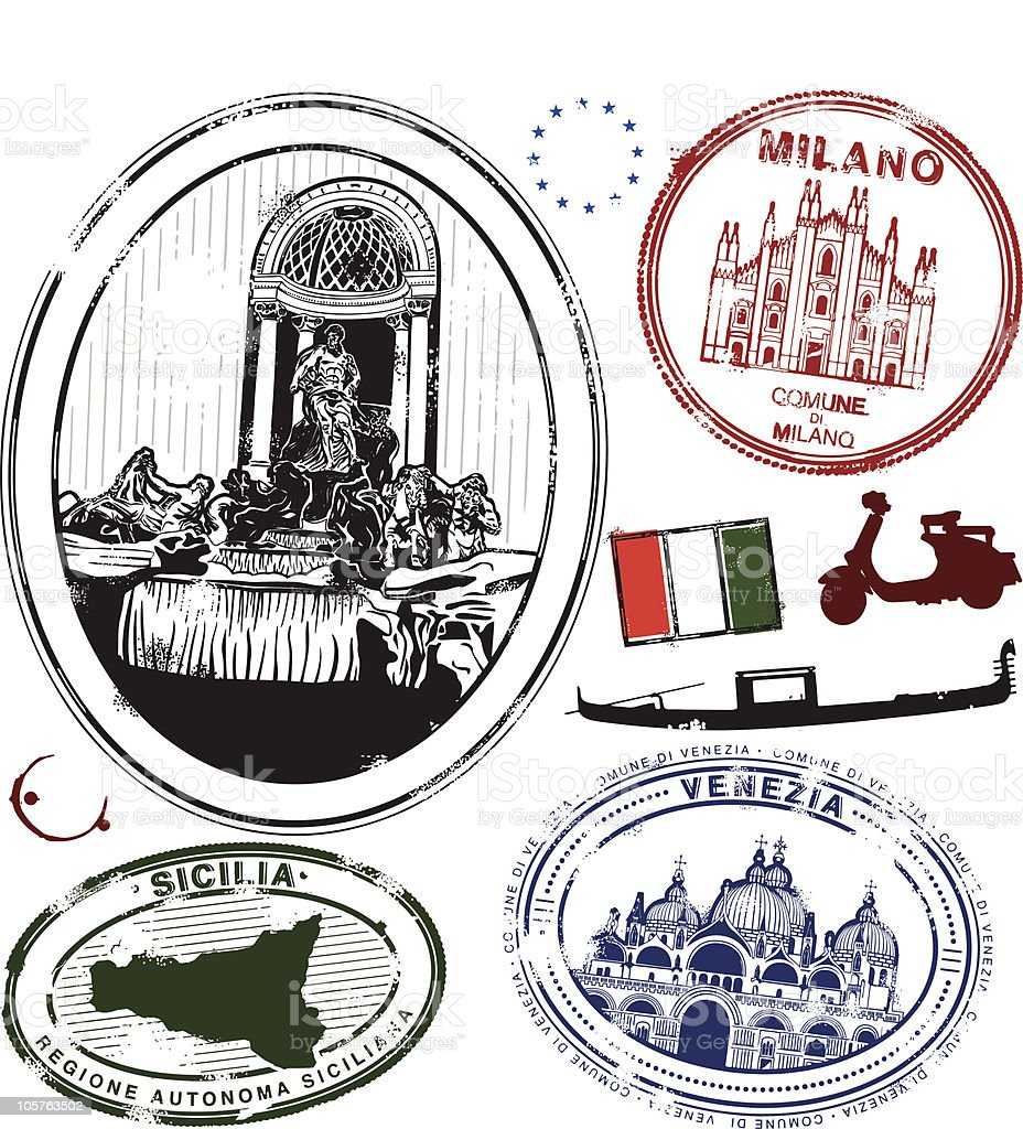 Stampa your passporta! royalty-free stock vector art