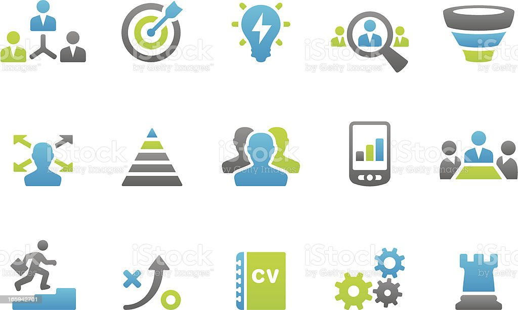 Stampico - Business strategy related icons vector art illustration