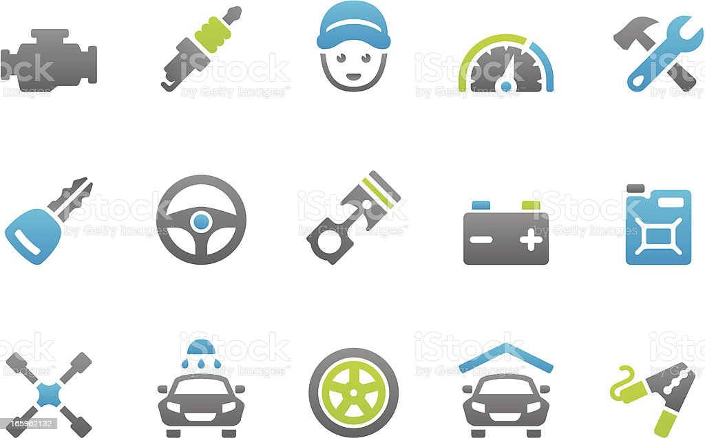 Stampico icons - Auto Services royalty-free stock vector art