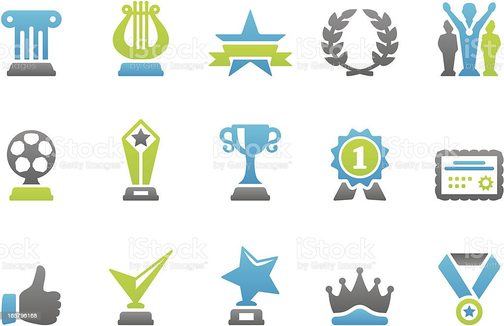 Stampico icons - Awards and Achievement royalty-free stock vector art