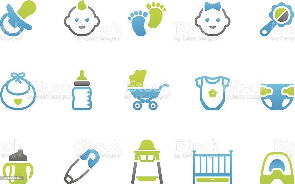 Stampico icons - Baby vector art illustration