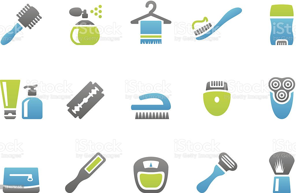 Stampico icons - Body Care royalty-free stock vector art