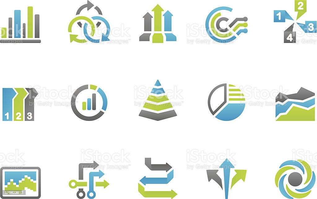 Stampico icons - Business infographic royalty-free stock vector art