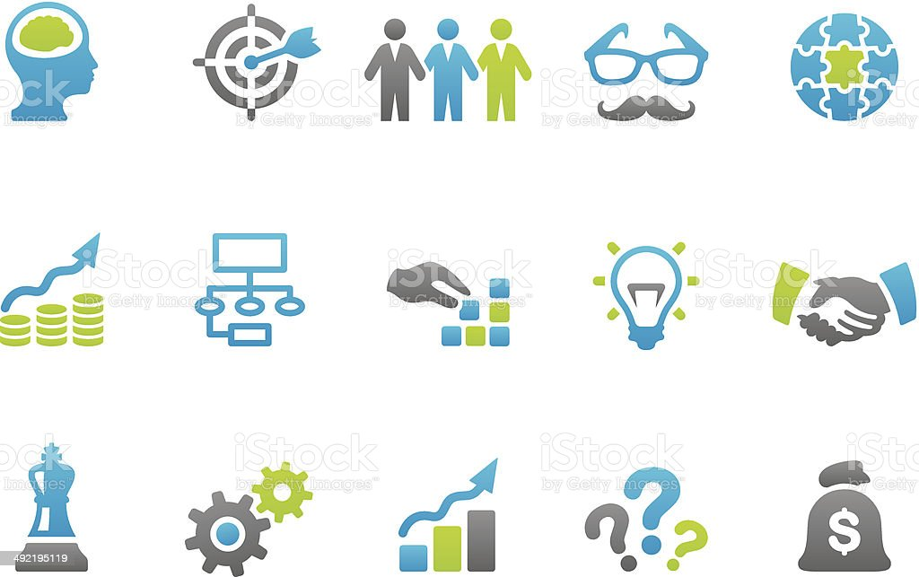Stampico icons - Business Solution vector art illustration