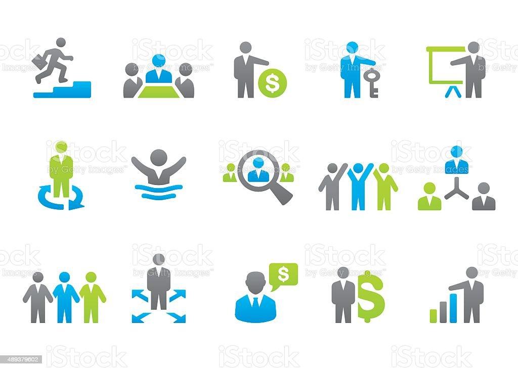 Stampico icons - Businessman vector art illustration