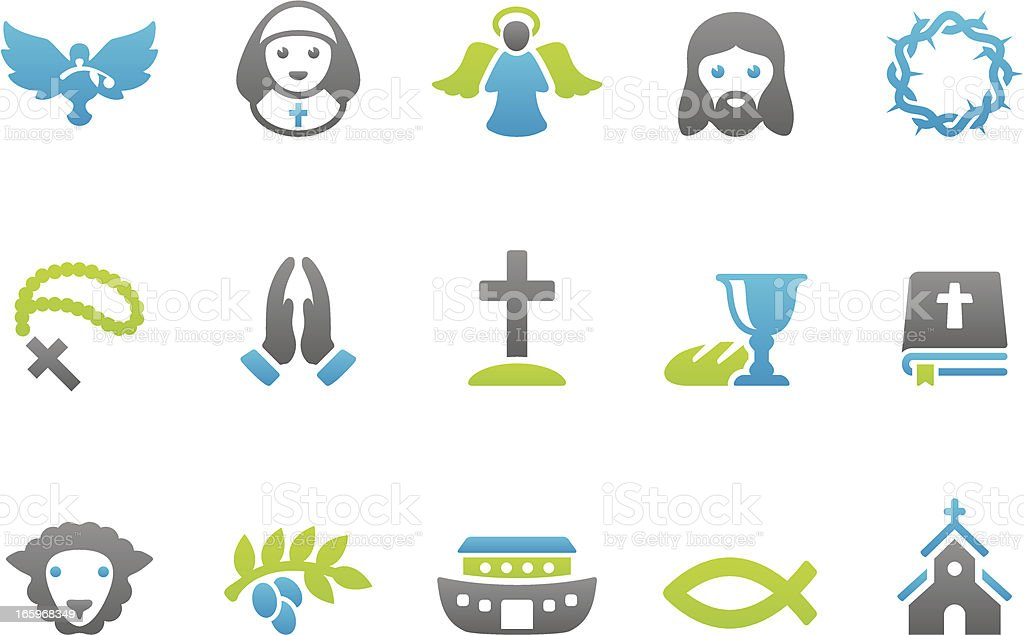 Stampico icons - Christianity vector art illustration