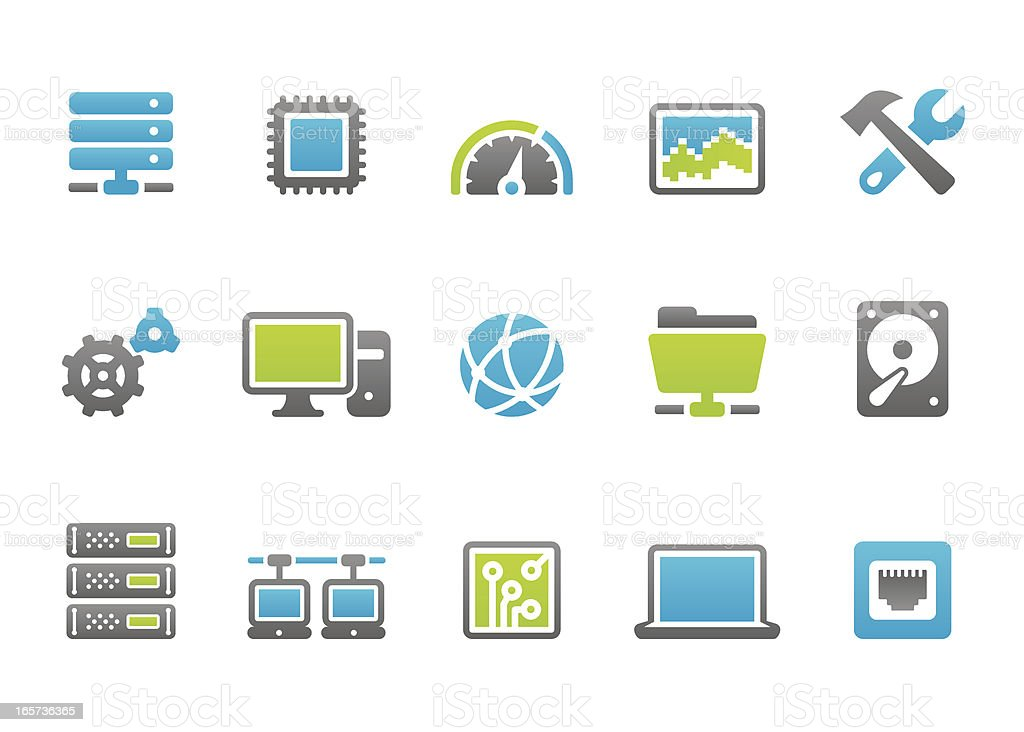 Stampico icons - Computer Network vector art illustration