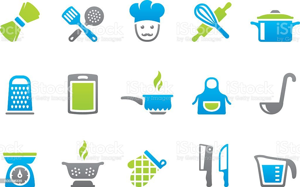 Stampico icons - Cooking vector art illustration