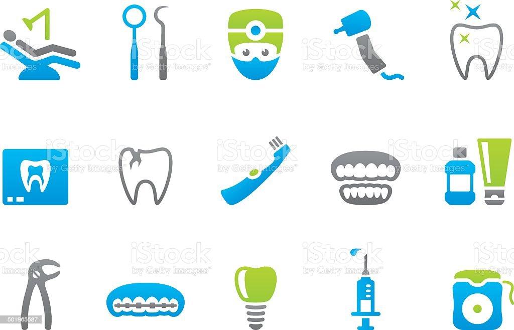 Stampico icons - Dental vector art illustration
