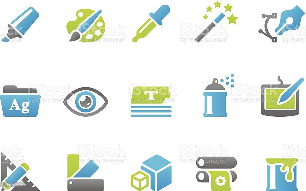 Stampico icons - Design vector art illustration