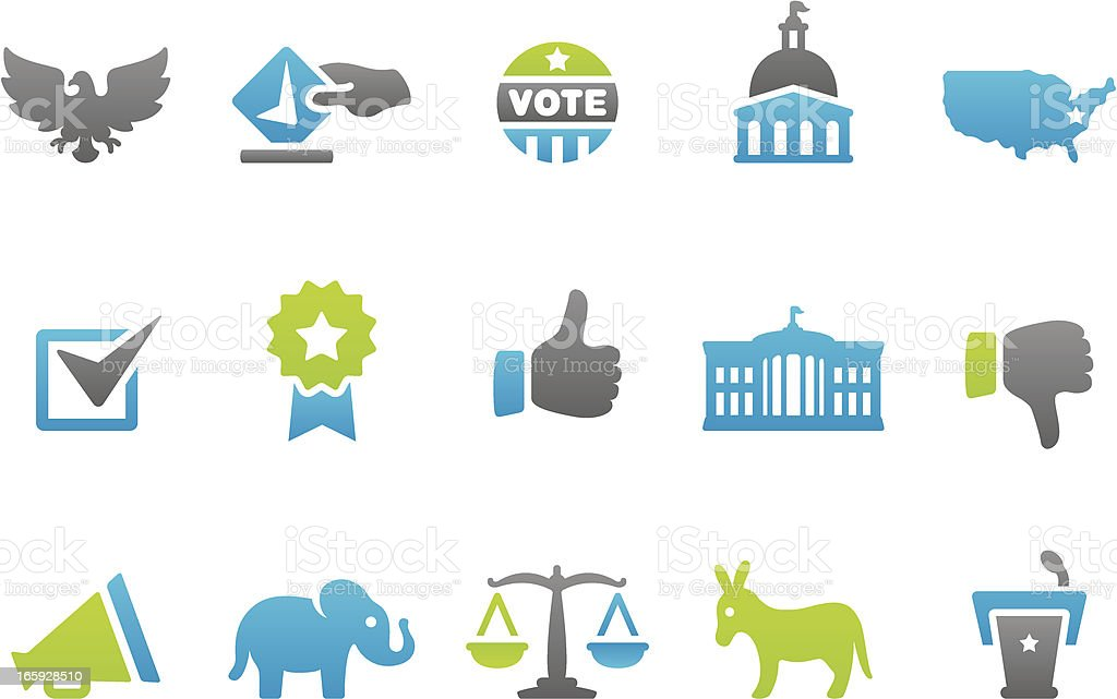 Stampico icons - Election vector art illustration
