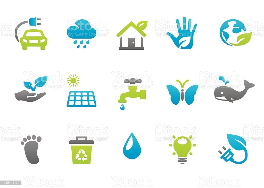 Stampico icons - Environmental Conservation vector art illustration