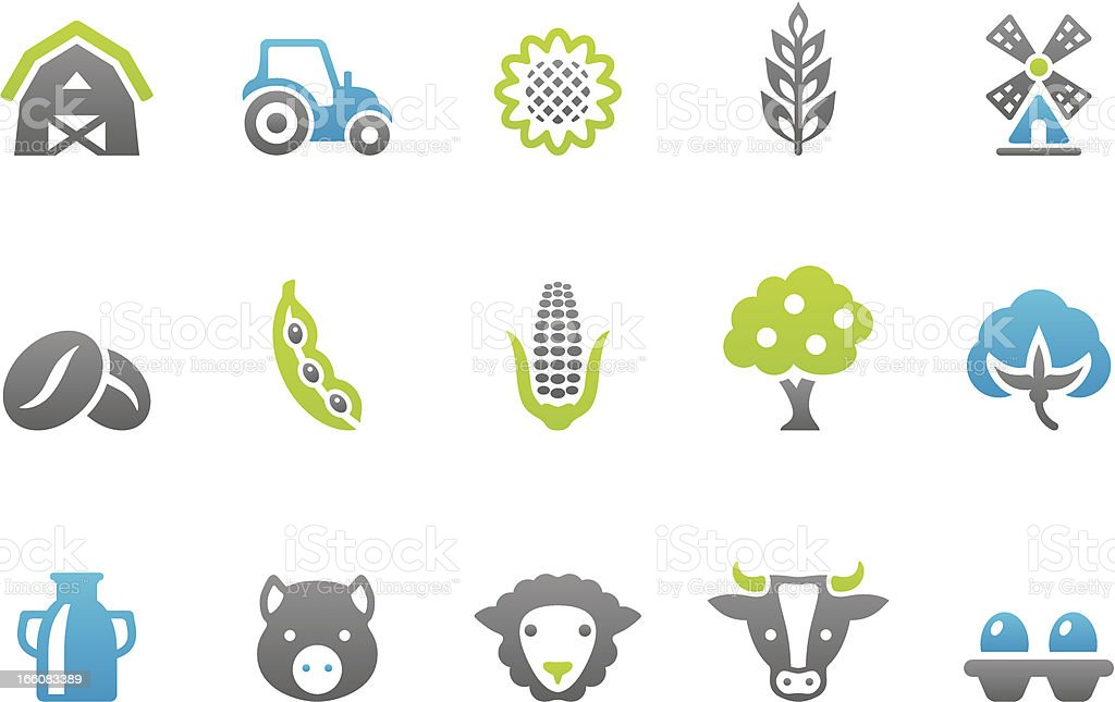 Stampico icons - Farm vector art illustration