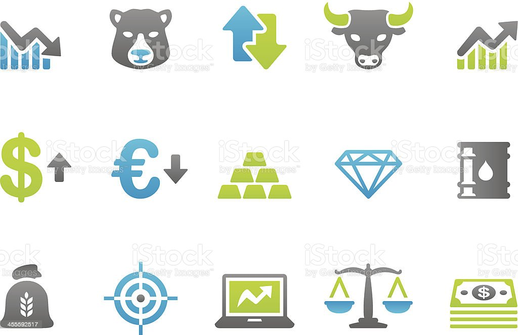 Stampico icons - Finance and Investment vector art illustration