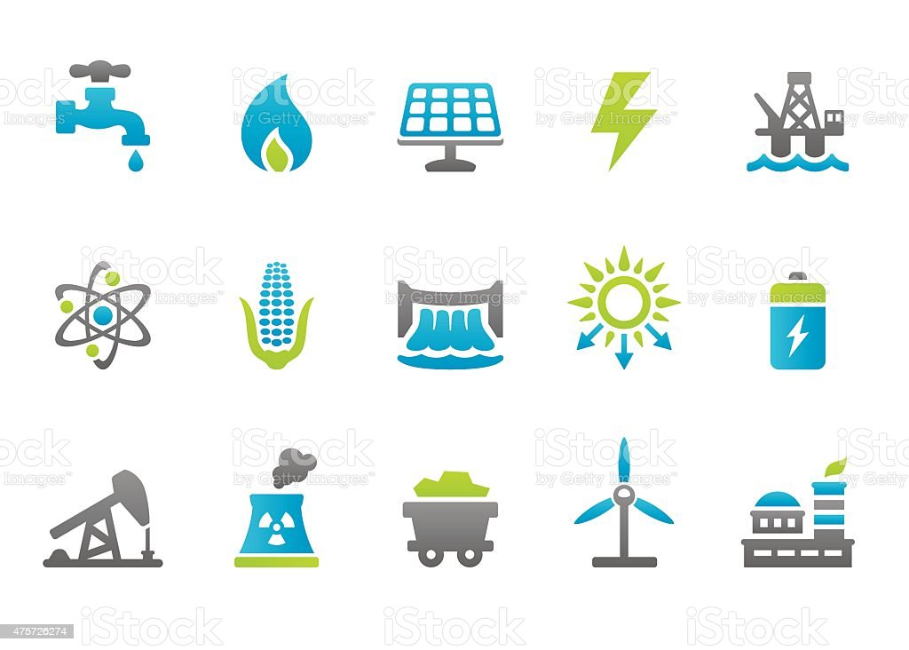 Stampico icons - Fuel and Power Generation vector art illustration