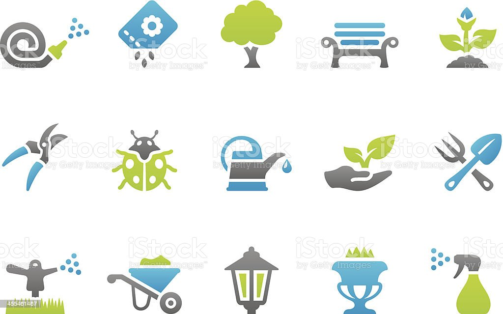 Stampico icons - Gardening royalty-free stock vector art