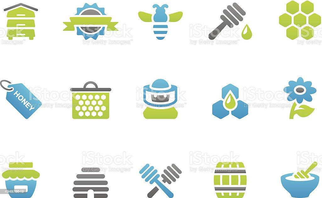 Stampico icons - Honey vector art illustration