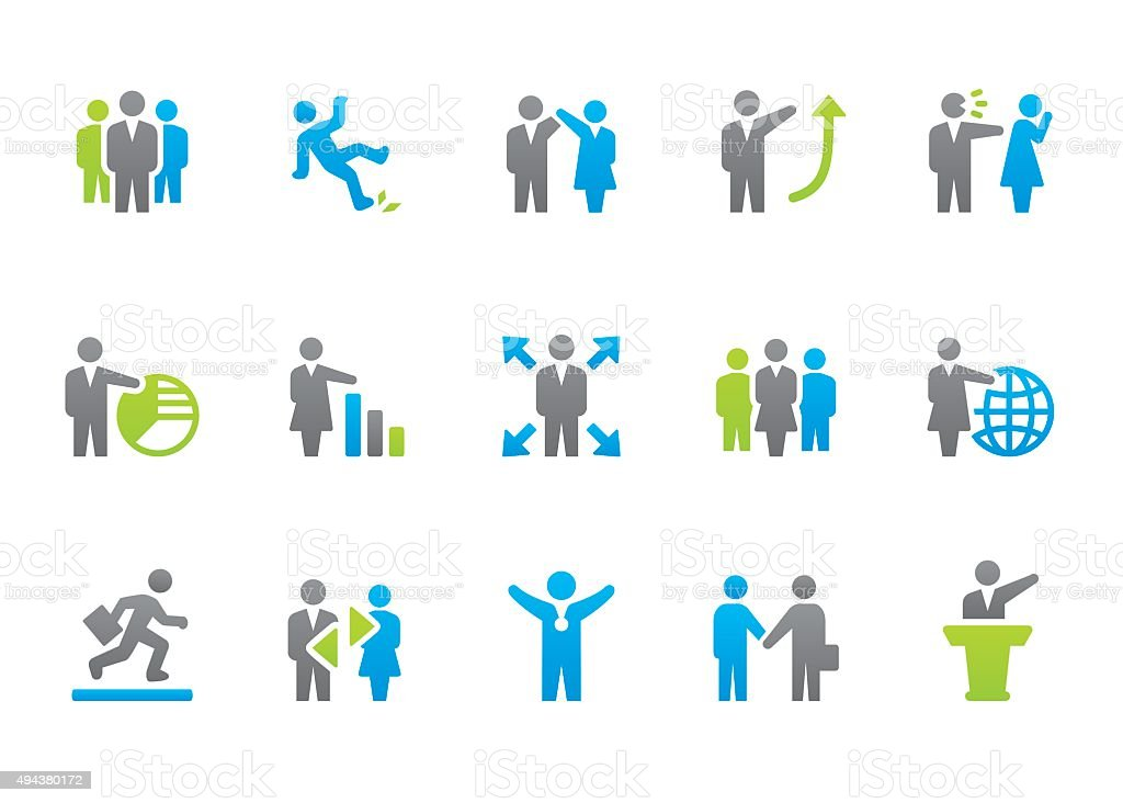 Stampico icons - Human Resources vector art illustration