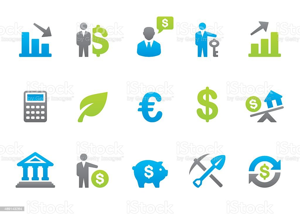 Stampico icons - Investment vector art illustration