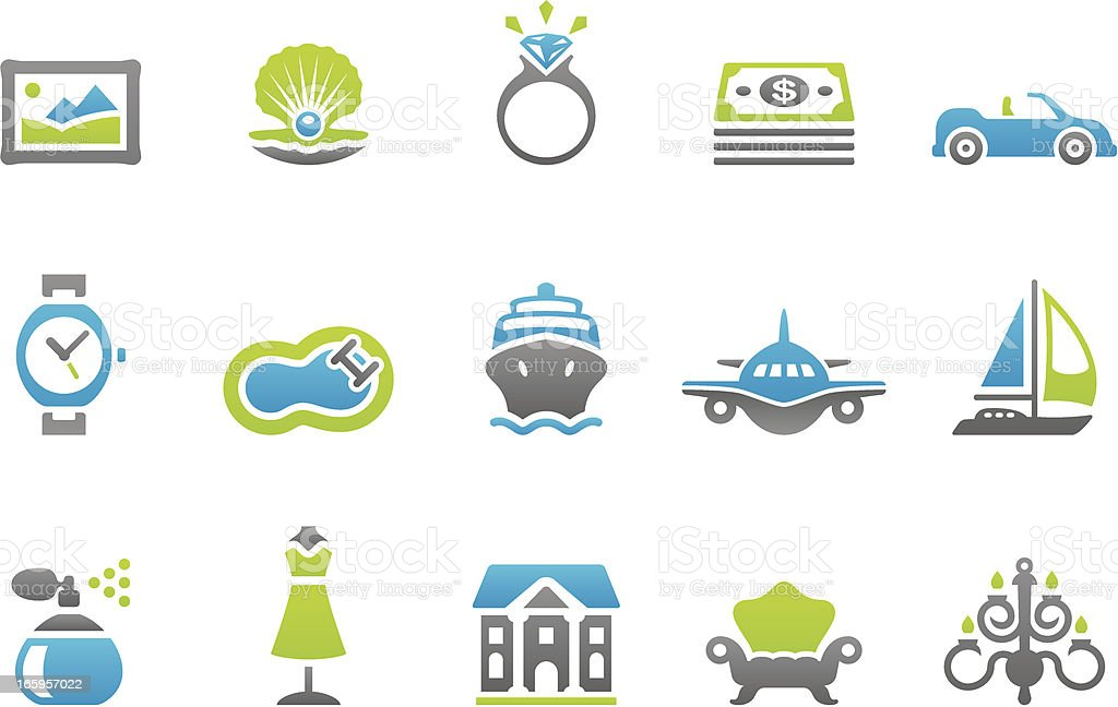 Stampico icons - Luxury Lifestyle vector art illustration