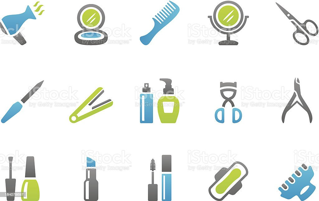 Stampico icons - Make-up vector art illustration