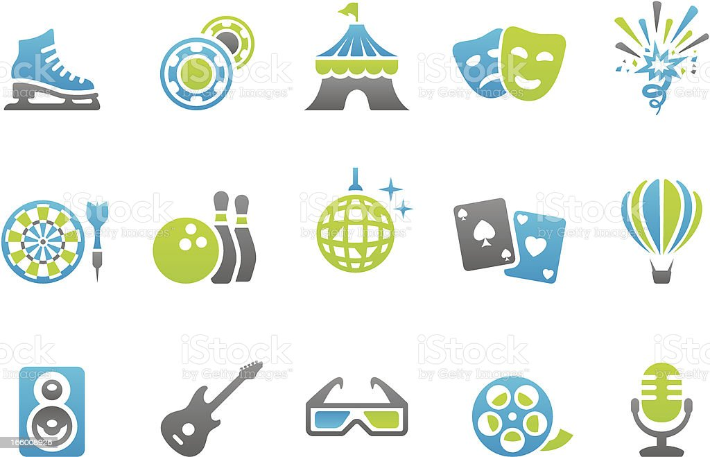 Stampico icons - Media and Entertainment royalty-free stock vector art