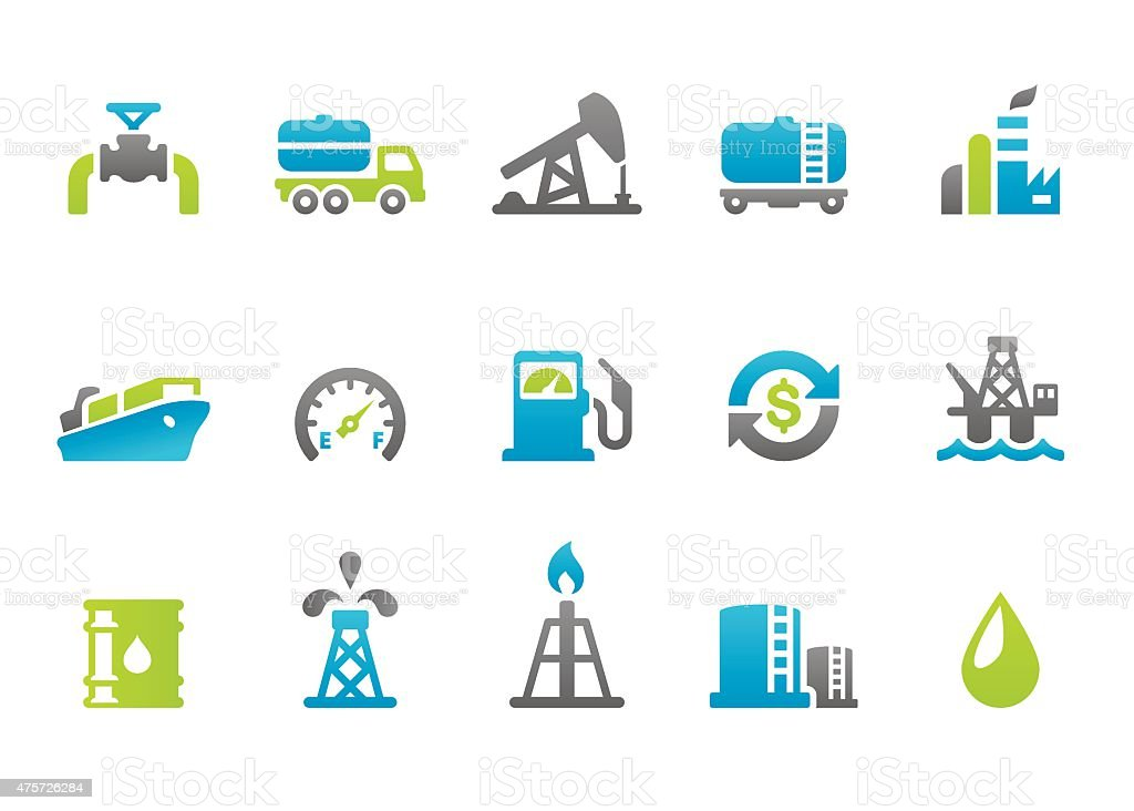 Stampico icons - Oil Industry vector art illustration