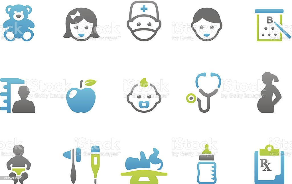 Stampico icons - Pediatrician vector art illustration
