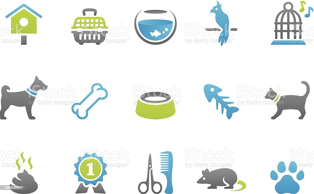 Stampico icons - Pets vector art illustration