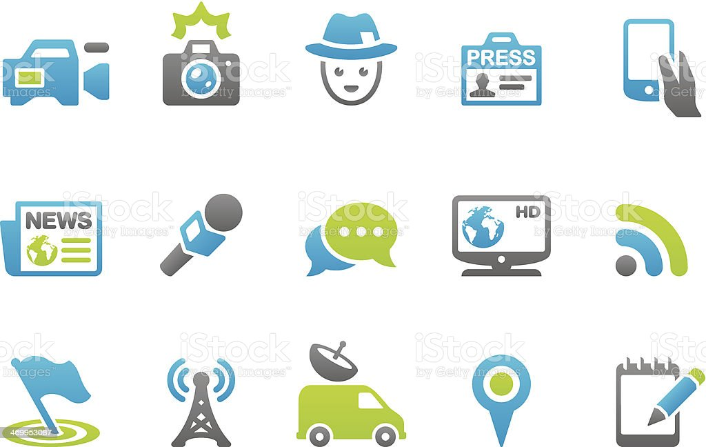 Stampico icons - Press vector art illustration
