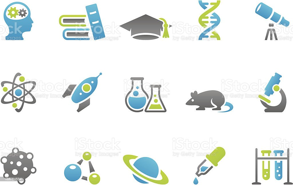 Stampico icons - Science royalty-free stock vector art