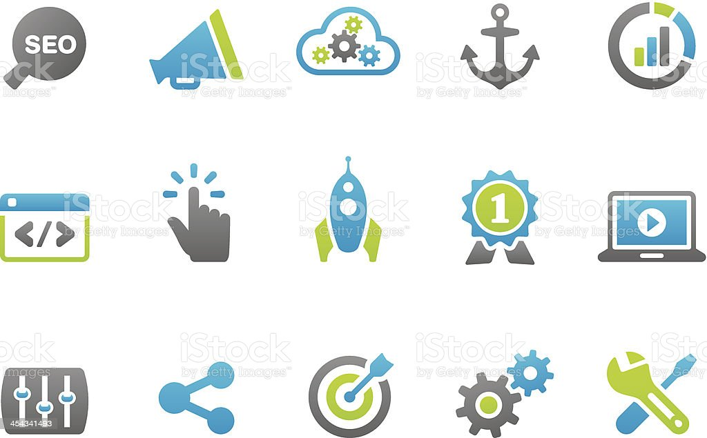 Stampico icons - SEO royalty-free stock vector art