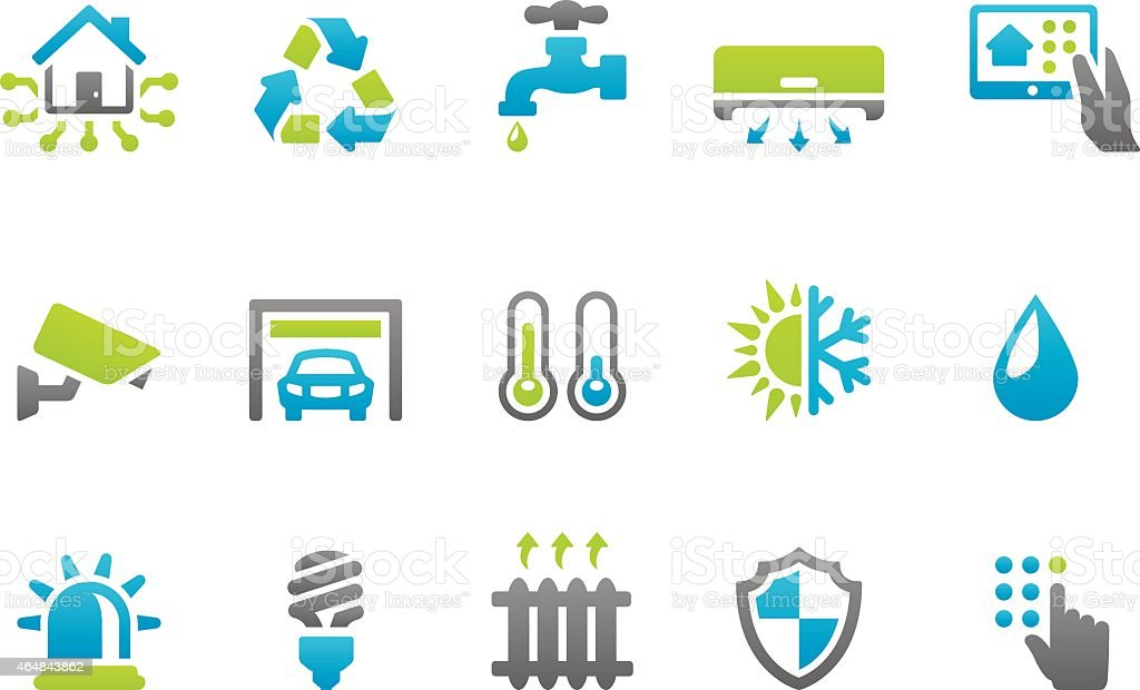 Stampico icons - Smart House vector art illustration