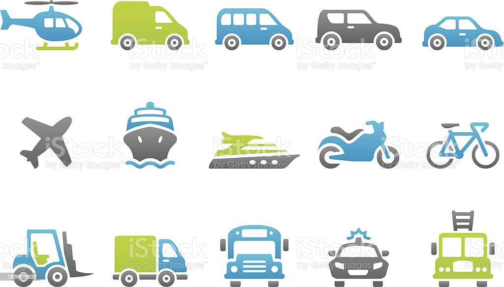 Stampico icons - Transport royalty-free stock vector art