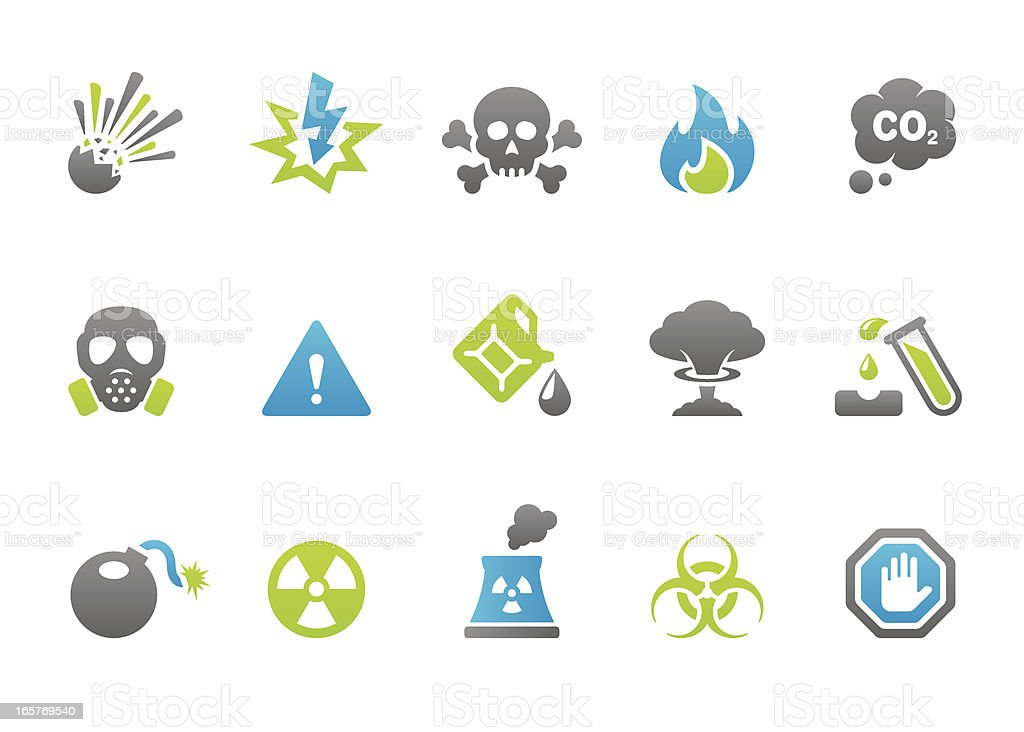 Stampico icons - Warning and Danger royalty-free stock vector art