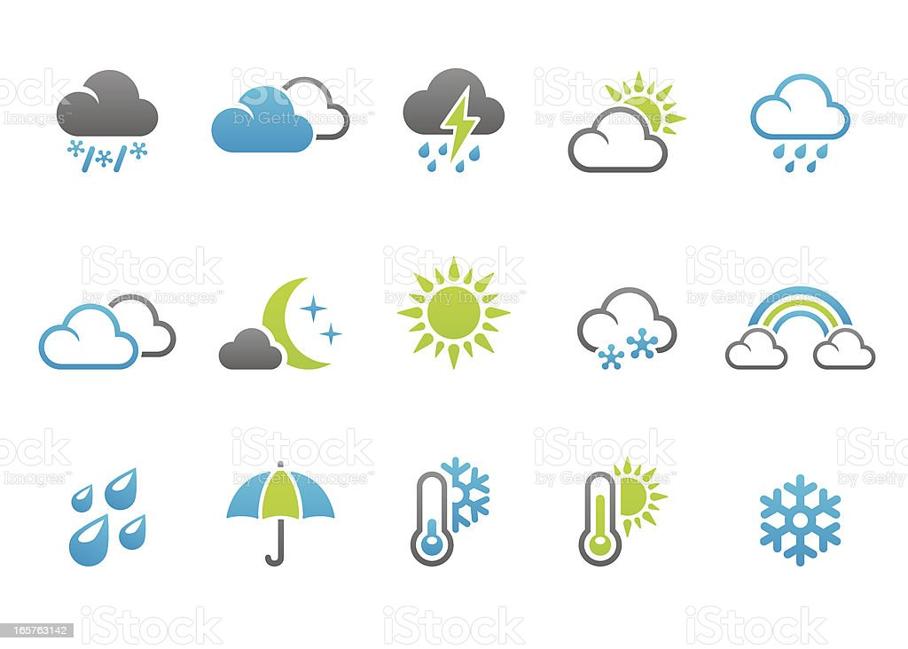 Stampico icons - Weather royalty-free stock vector art