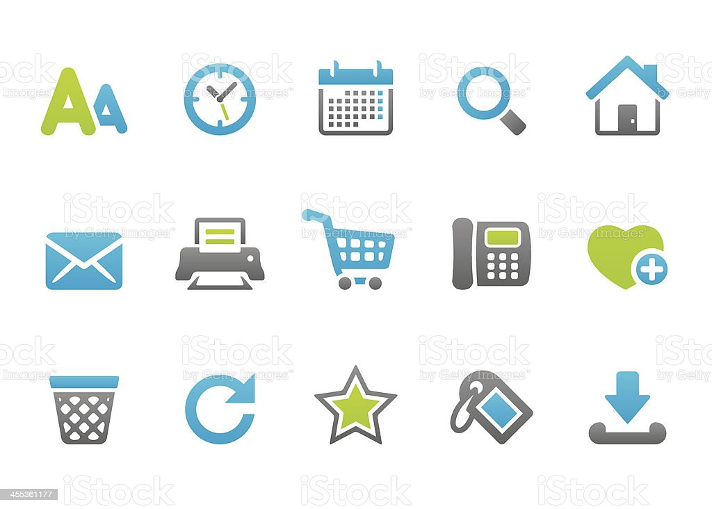 Stampico icons - Web browse royalty-free stock vector art