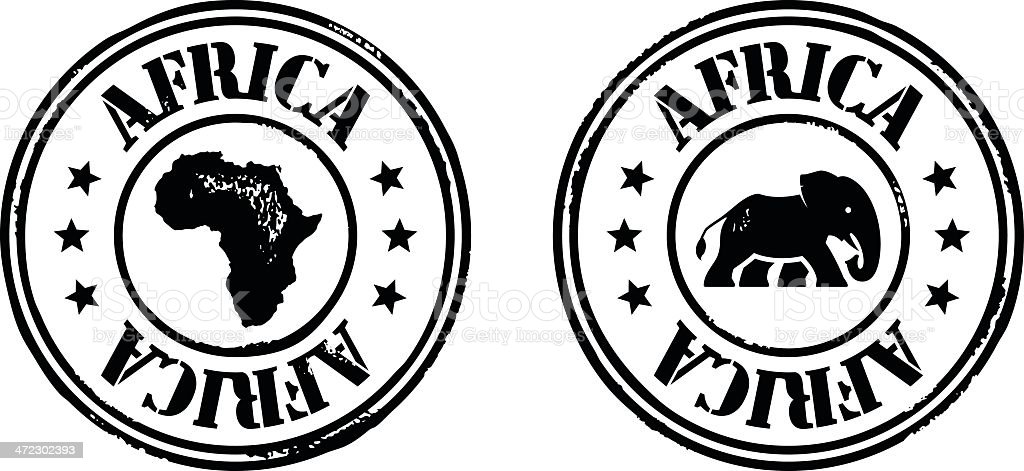 Stamps - Africa royalty-free stock vector art